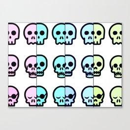 Pastel Goth   Pastel skulls   Pastel Gothic   Gothc skulls   Cute skulls Canvas Print