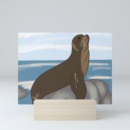 California Sea Lion Mini Art Print