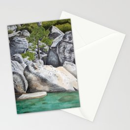 Tree in the Boulders Stationery Cards