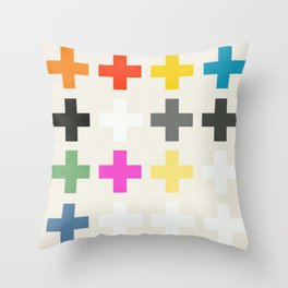 Crosses II Throw Pillow