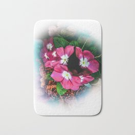 Last summer flower Bath Mat