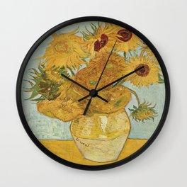 Vincent van Gogh's Sunflowers Wall Clock