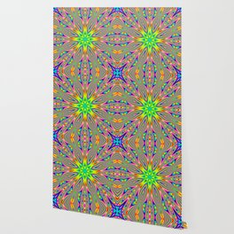 Psychedelic Rainbow Kaleidoscope Wallpaper