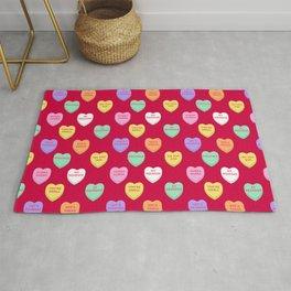 Old Fashioned Slang Valentines Conversation Heart Rug
