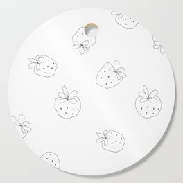 Your Color no.2 - strawberry illustration fruit pattern Cutting Board