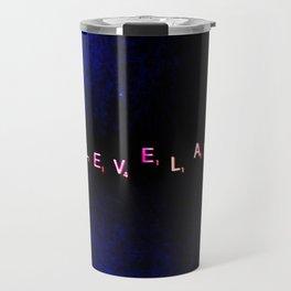 """"""" Cleveland"""" in Black & Blue Travel Mug"""