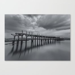 The old Wooden Bridge Canvas Print