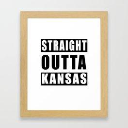 Straight Outta Kansas Framed Art Print
