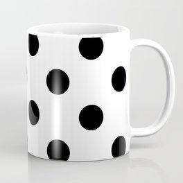 Polkadot (Black & White Pattern) Coffee Mug