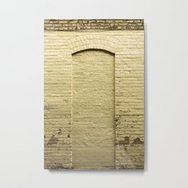 Yellow Brick Wall Door in Wisconsin Metal Print