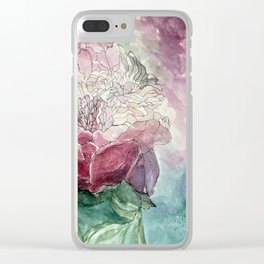 Rosy Unfinished Clear iPhone Case