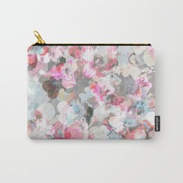 Pastel pink pansies splatter Carry-All Pouch