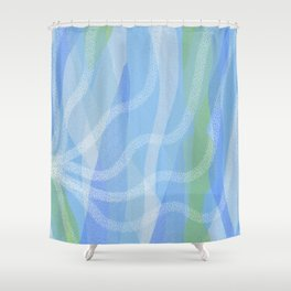 Walking Each Other Home - Ram Dass (blue) Shower Curtain