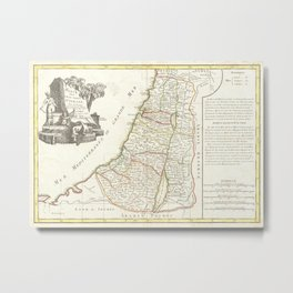 Vintage Map of Israel (1770) Metal Print