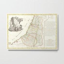 Vintage Map of Israel (1770) Metal Print
