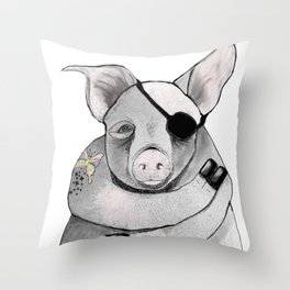 Living Pig Throw Pillow