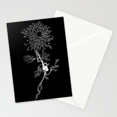 White Chrysanthemum Stationery Cards