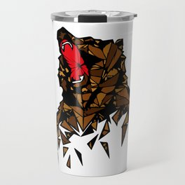 Colourful Geometric Bear Pattern Travel Mug