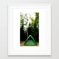 camp Framed Art Prints featuring Camp by Inverse Funk
