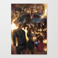 resident evil Canvas Prints featuring Resident Evil 6 by Dr-Salvador
