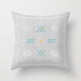 Morocco Kilim in Grey Throw Pillow