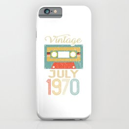 Vintage July 1970 50th Birthday 50 Year Old Gift iPhone Case