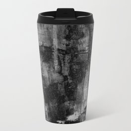 Crackled Gray - Black, white and gray, grey textured abstract Travel Mug