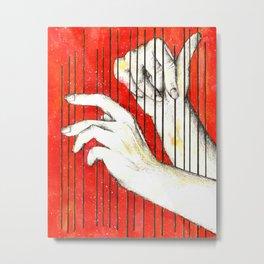 Inky hands17-Music Metal Print