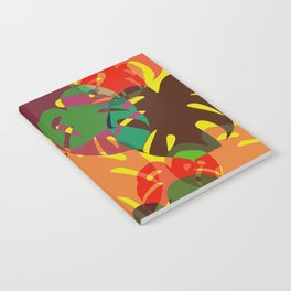 multicolored monstera Notebook