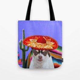 Mexican chihuahua dog Tote Bag