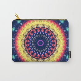 Colorful Flower Mandala Carry-All Pouch