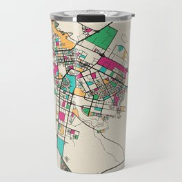 Colorful City Maps: Astana, Kazakhstan Travel Mug