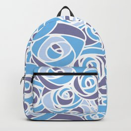 Abstract flower pattern Backpack