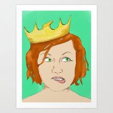 Bad queen Art Print