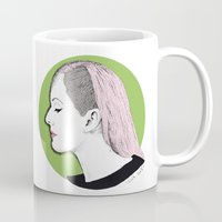 ellie goulding Mugs featuring Ellie by Iiris Ella