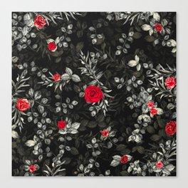 Fall Roses III - digital floral illustration pattern Canvas Print