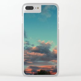 Smouldering Skies Clear iPhone Case