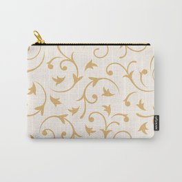 Baroque Design – Gold on Cream Carry-All Pouch