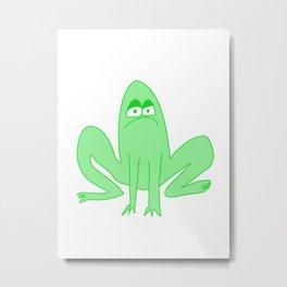 The Jaded Frog Metal Print