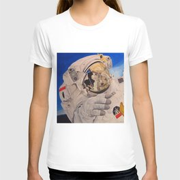 Astronaut in space, man. T-shirt