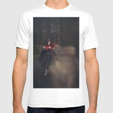 Helplessly Lost MEDIUM White Mens Fitted Tee