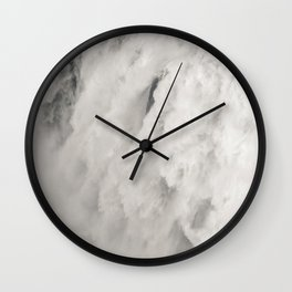 Cloudy Waterfalls Wall Clock