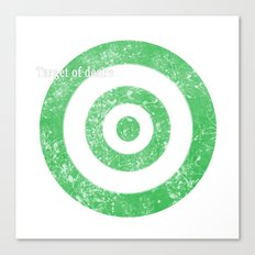 Target of desire - green Canvas Print