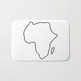 Africa African continent map Bath Mat