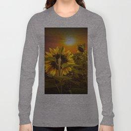 Sunflowers facing the Sunset Long Sleeve T-shirt