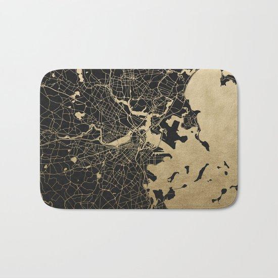 Boston Gold and Black Invert Bath Mat