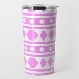 Pink Pattern Tribal Travel Mug