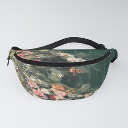 Beautiful Wildflowers in Forest Green Pond Fanny Pack