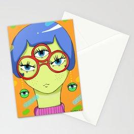 La femme à lunettes. Stationery Cards