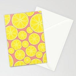 Pink Lemonade Citrus Lemon Slices Stationery Cards